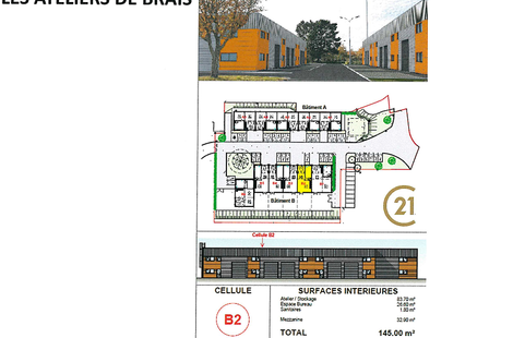 Vente Locaux d'activités SAINT-NAZAIRE 145m²