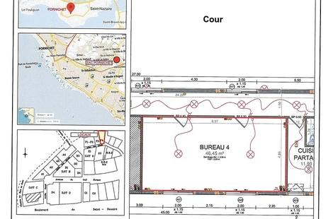 Location Bureaux PORNICHET 46m²
